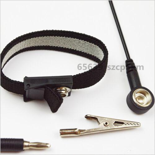 NEW Anti-static Antistatic ESD Ground Strap Wrist Band Grounding Bracelet Black
