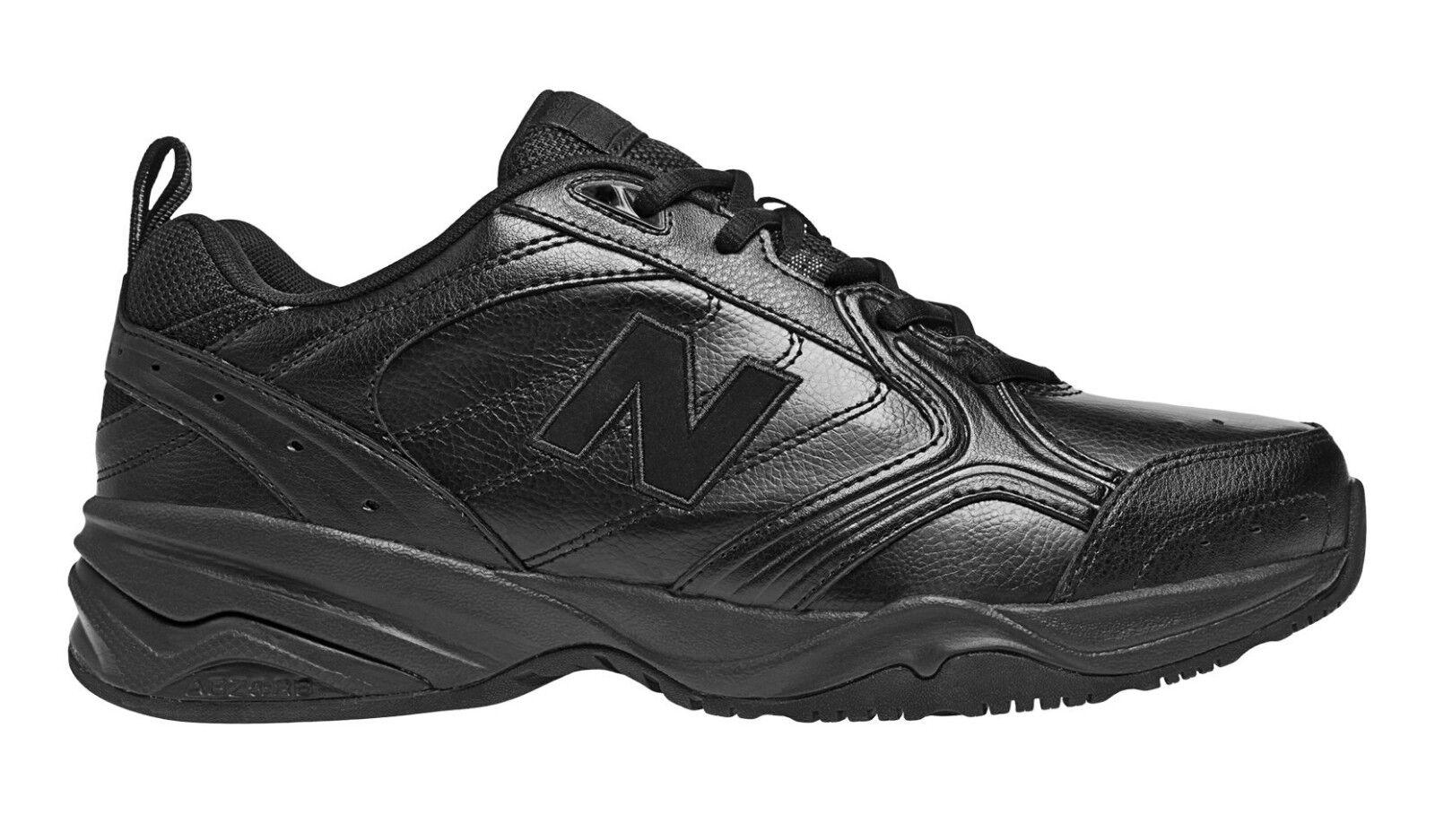 New Balance MX624AB2 Men's 624 Black Leather Trainer Cross-Training shoes