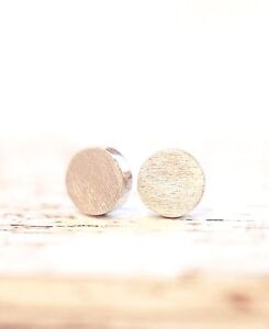 Damen-Ohrstecker-Ohrringe-Rund-Circle-Kreis-Round-Dot-Gold-Filigran-Minimal