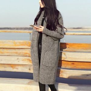 Outwear-Sweater-Coat-Tops-Women-Long-Sleeve-Knitted-Oversized-slouchy-Cardigan