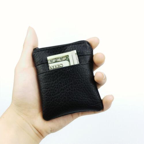 1PC Portable Leather Coin Purse Men Women Card Holder Mini Short Wallet Bags