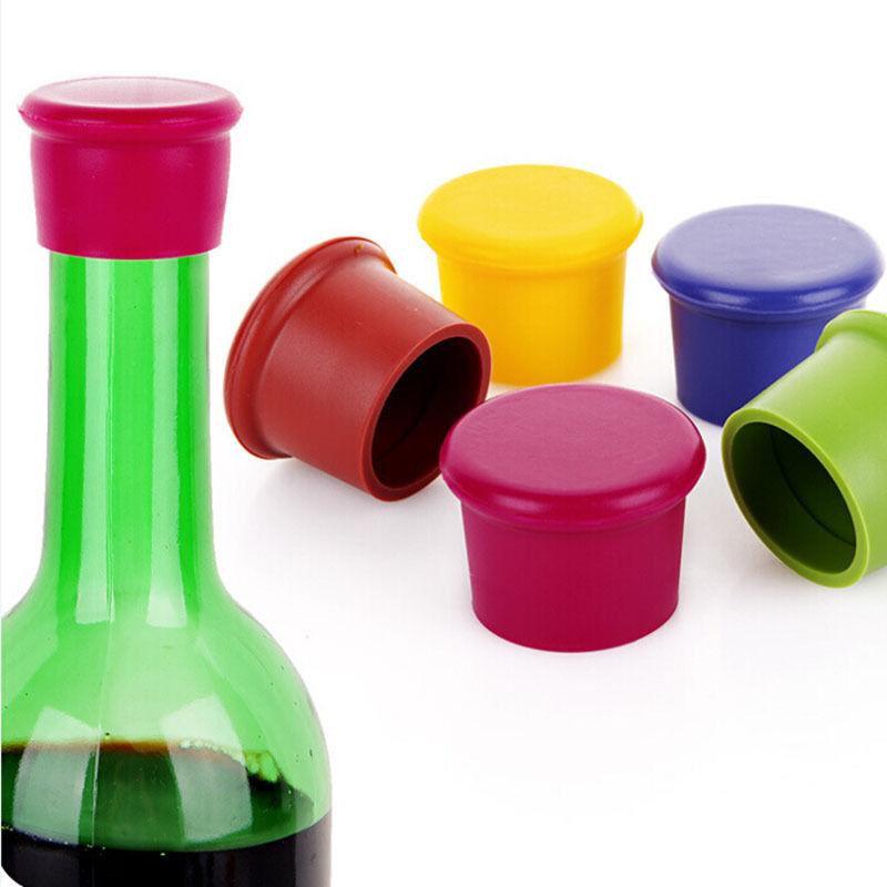 Color-2 Silicone Wine Stopper with Hat Top Reusable Beverage Bottle Cork Leak-Proof Beer Sealer