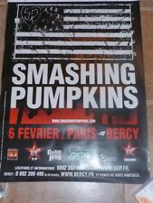 SMASHING PUMPKINS - BERCY 2008 !!!Affiche promo / French promo poster !!!!!!!!!