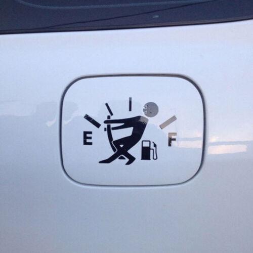 1PCS  Funny Car Vinyl Sticker High Gas Consumption Decal Fuel Gage Empty POWER