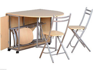 Image Is Loading Seconique Butterfly Dining Set In Beech Amp Silver