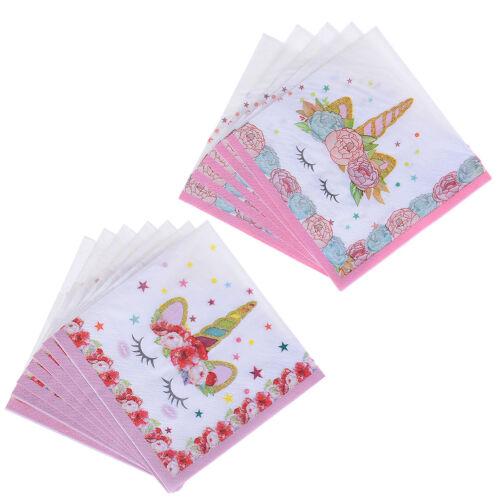 6X unicornio servilletas de papel para los niños fiesta de boda de cumpleaños