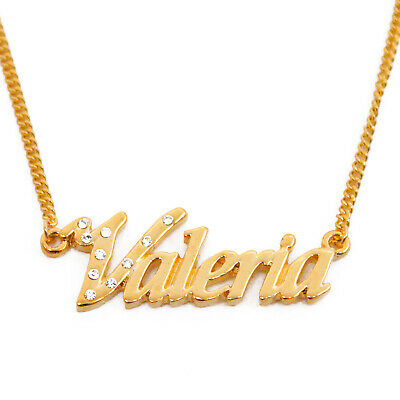 Gloria v01-18k Gold Finished Luxury Necklace Personalized Name Birthday Gifts Jewelry