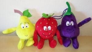 3-VITAMINS-STRAWBERRY-EGGPLANT-PEAR-soft-toy-coop-Life-Mini-snowman-plush-toys