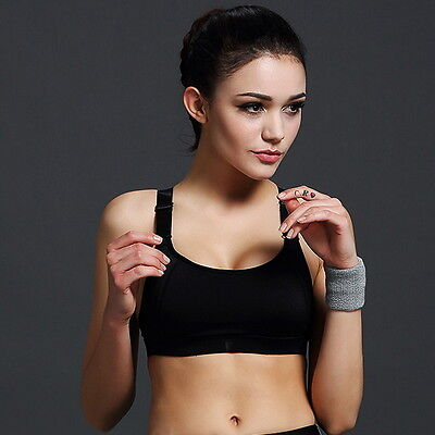 Women Stretch Running Sport Bra Padded Gym Yoga Fitness Tank Tops Workout