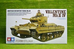 Tamiya britannique Valentine Mk II / IV Kit de chars d'infanterie au 1/35 35352 4950344353521