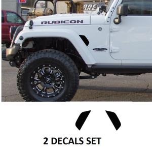 Universal Red Hood Side Fender Air Vent Intake Cover For Jeep Wrangler TJ//JK//JL