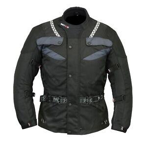 Mens-Motorcycle-Motorbike-CE-armoured-Waterproof-Cordura-jackets-Black