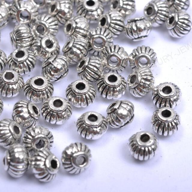 100pcs Tibetan Silver Gold Bronze Lantern-Shaped Spacer Beads Jewellry 5MM NP276