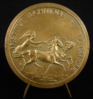 Abundante Médaille à Rémy Kerdraon 1987 Institut Technique De Banque 1982 Bank Renne Medal Aroma Fragante