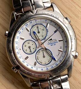 Lotus-WR-50-9630-Cal-6W50-Fonctionnel-Quartz-Chronographe-Vintage-38-mm-Montre