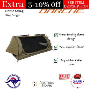 King-Single-Dome-Swag-Darche-Steel-Dusk-To-Dawn-1100-Outdoor-Camp-Freestanding