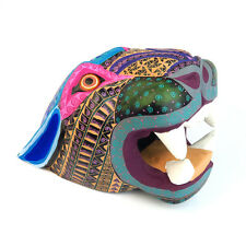 LARGE JAGUAR HEAD Oaxacan Alebrije Wood Carving Mexican Folk Art Sculpture