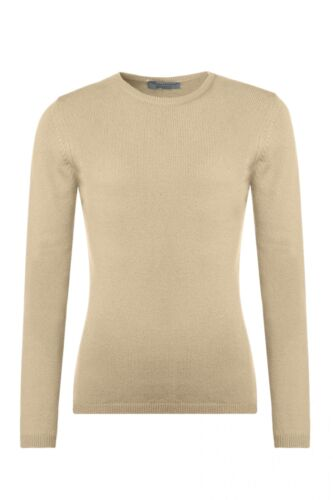 Ladies Great /& British Knitwear 100/% Lambswool Round Neck Jumper with Elbow Patc