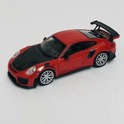 1//87 Minichamps Porsche 911 GT2 RS 2018 red w// carbon bonnet 870068121