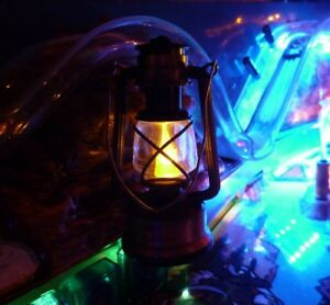 ACTIVE LANTERN 'Flickering Flame' Pinball Mod White Water,Dracula, Indiana Jones