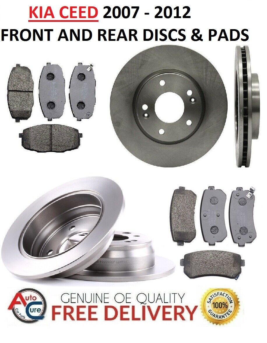 FORD FOCUS 1.6 TDCI DIESEL ZETEC S FRONT BRAKE DISCS AND PADS SET 11 TO 18