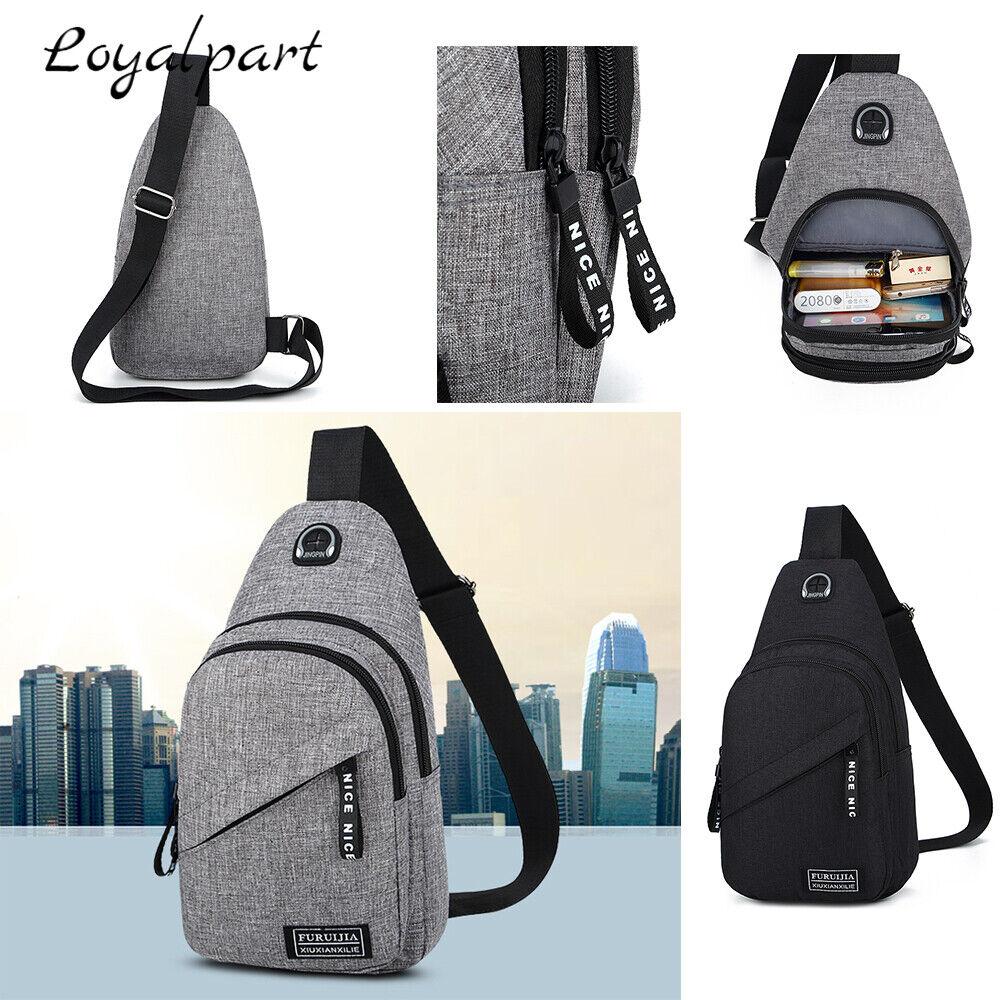 Sling Bag Chest Bag Sports Travel Backpack Cross Body Handbag Shoulder... - s l1600