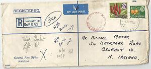 RHODESIA;POST UDI 1966 REGISTERED. postmarked SALISBURY RHODESIA and post paid