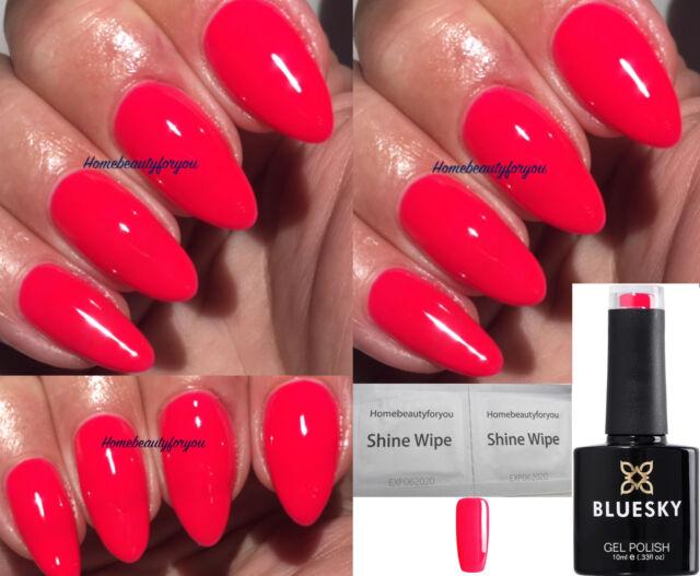 Bluesky Neon 25 N25 Red / Coral Pink Summer Nail GEL Polish UV LED ...