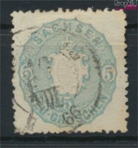 Sachsen-19a-Pracht-gestempelt-1863-Landeswappen-9108892