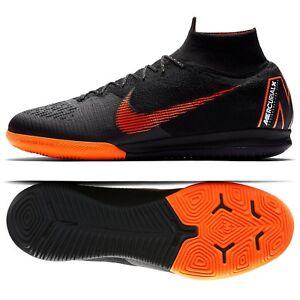 on sale bf4c2 60a14 Details about Nike Mercurial SuperflyX 6 Elite IC AH7373-081 Black Men  Soccer Shoes Sz 7