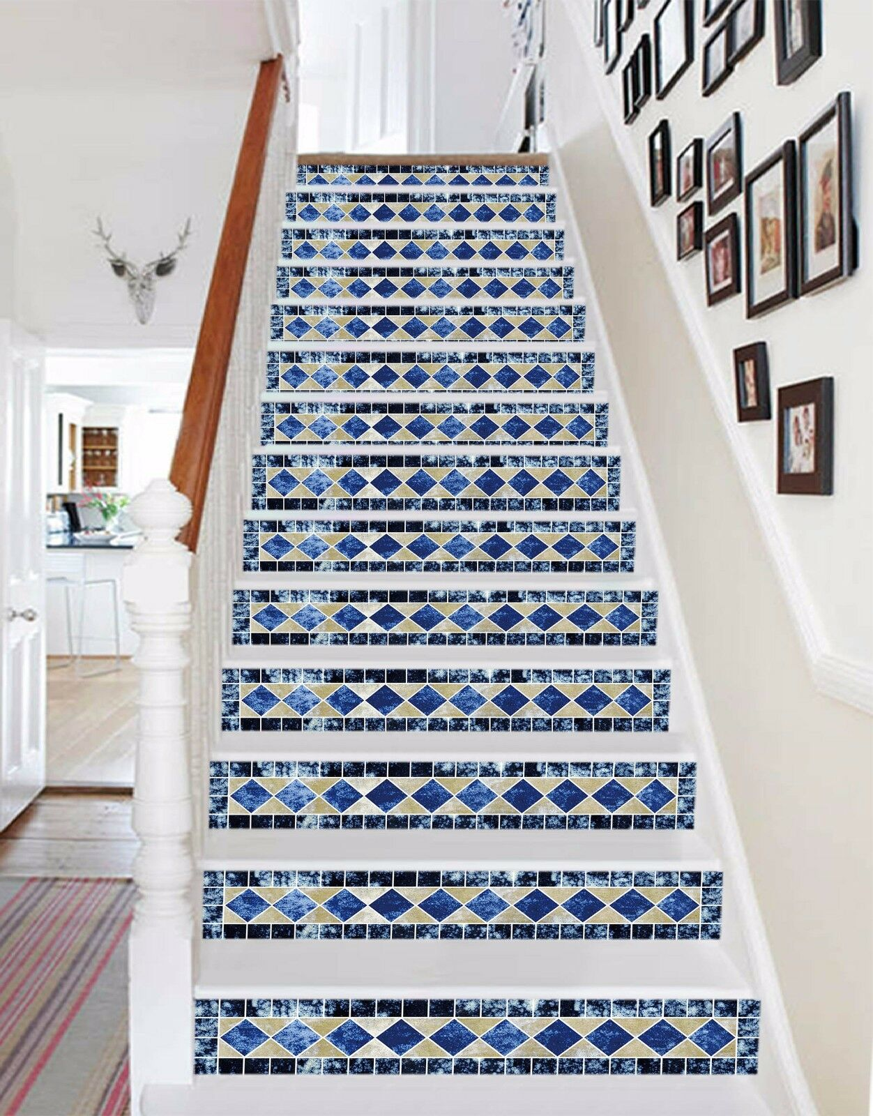 3D Square Pattern 1 Stair Risers Decoration Photo Mural Vinyl Decal Wallpaper AU