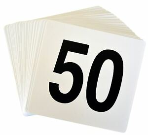 Wedding-Event-Party-Table-Number-Plastic-Place-Cards-1-50-Double-sided