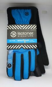 Isotoner-Signature-Active-SmarTouch-Women-039-s-Dynasty-M-L-Black-Blue-New-Gloves