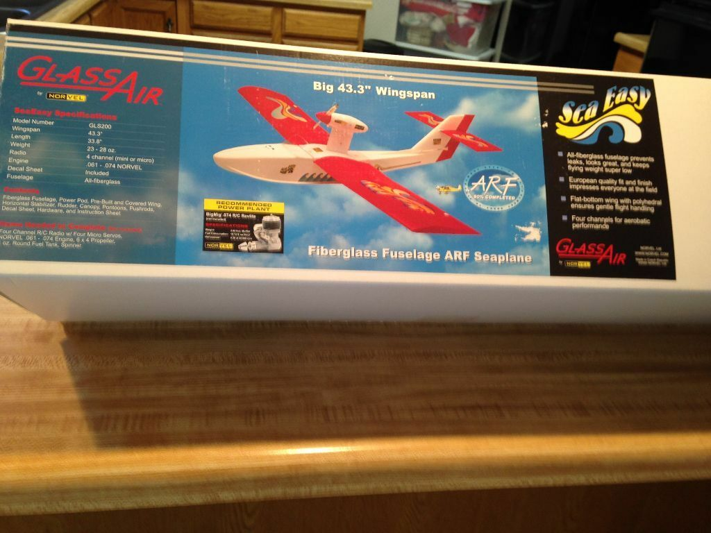 Nuevo R C Norvel Vidrio aire sea fácil ARF Kit-Cox, Norvel 1 2A motor Plano De Tamaño
