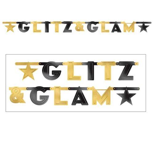 """Motiv-Girlande /""""Golden Hollywood/"""" 2,1 m"""