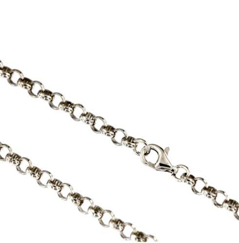 Silberkette 925 Silber Ø 3,8 mm 40-90 cm Halskette Kette rund Erbskette