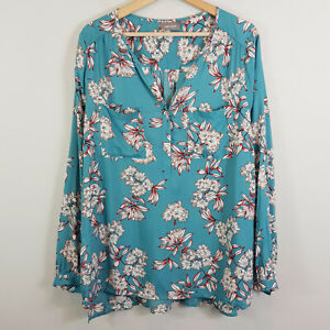 SUSSAN-Womens-Long-Sleeves-Print-Blouse-Top-NEW-Size-AU-16-or-US-12