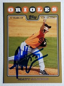 2008-Topps-Update-Gold-Matt-Albers-Auto-Autograph-Card-Orioles-Red-Sox-Signed