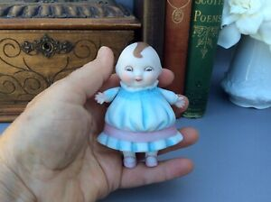 Antique-German-All-Bisque-Happifats-Girl-Storybook-Character-Doll-3-1-2-Great