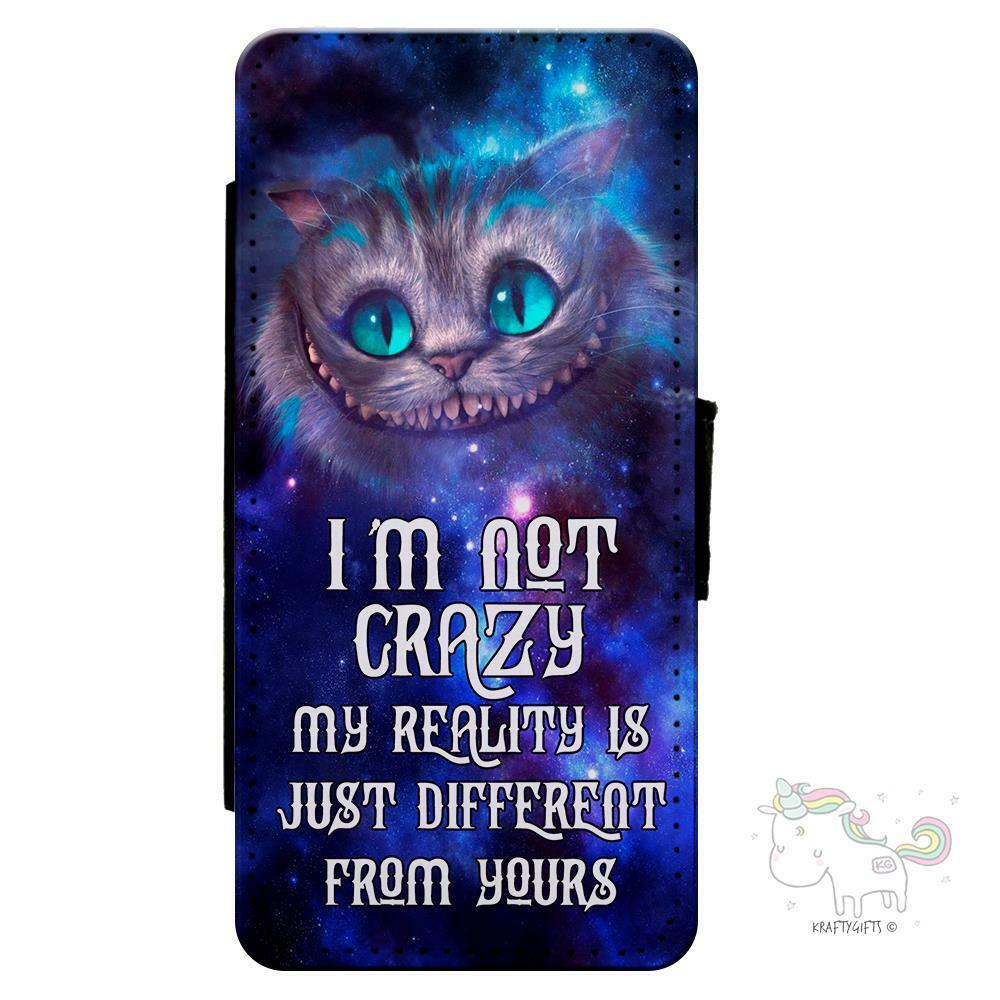 the best attitude f9271 7d82a Details about Alice in Wonderland Cheshire Cat iPhone Flip Case Wallet  Mobile Phone Cover AP05
