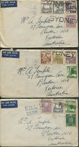 Postal-History-World-War-II-Airmail-Covers-c-1946-48-covers-JAPAN-Victoria