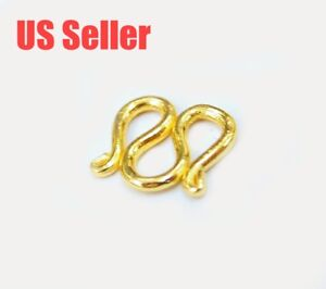 Image Is Loading Solid Pure 23k 23kt Gold M Clasp For
