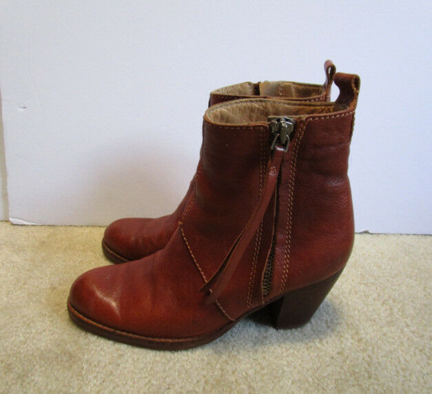 Acnc Studios Pistol Women's Women's Women's Brown Leather Ankle Boots Made in  Size EUR 39 cb85dc