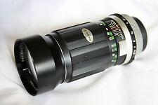 m42 screw mount Soligor F3.5 180mm Bokeh Camera Lens preset 10 Blade iris eos d