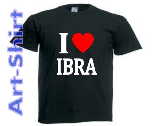 T-SHIRT personnalisé I LOVE IBRA Ibrahimovic PSG taille de S a XXL homme neuf