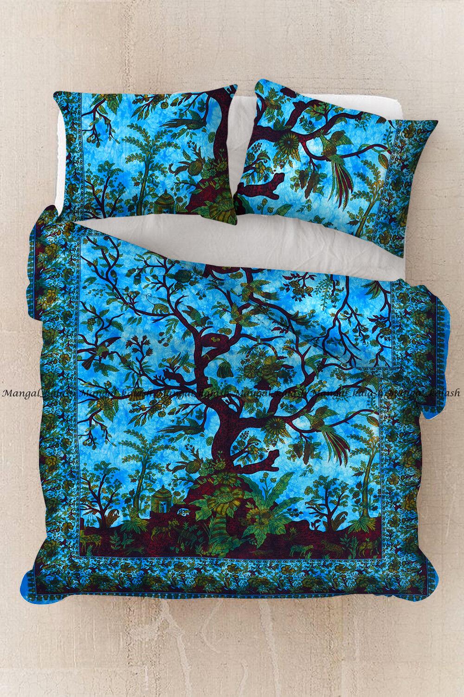 Tree of life mandala duvet quilt cover cotton hippie bedding comforter cover set