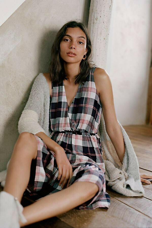 New Anthropologie Dickens Plaid Dress by Isabella Sinclair Retail