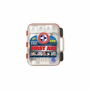 """First Aid Bag Kit 326 Pieces 13""""x 12""""x 4"""" Clean Durable Material Multi-Purpose"""