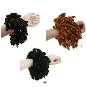 1xWomen-Fluffy-Velvet-Hijab-Scrunchies-Plain-Big-Hair-Ring-Tie-Bun-Clip-Headwear