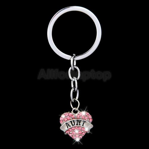 Mond//Herz Form Tasche Schlüsselanhänger Taschenanhänger mit Familienname